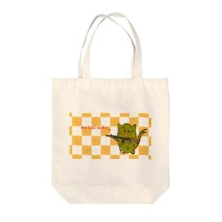 迷彩ねこ Tote bags