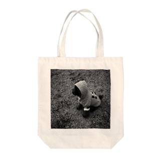 黄昏の子犬 Tote bags
