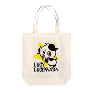 小悪魔パンダのLUCY Tote bags
