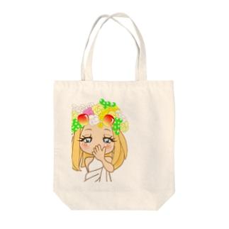 可愛いトロピカーナちゃん。 Tote bags