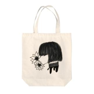 首の純情 Tote bags