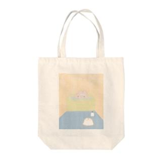 風呂うさぎ Tote bags