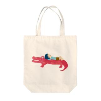 アリゲーター Tote bags