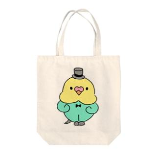 フォーマルなセキセイインコ Tote bags