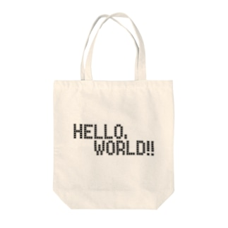 HELLO, WORLD!! ―ver.white― Tote bags