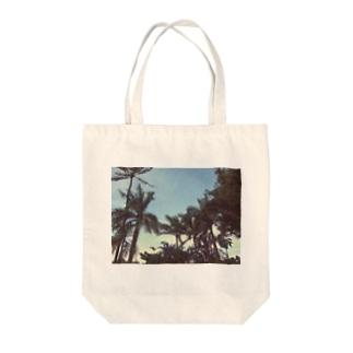 ヤシの木 Tote bags