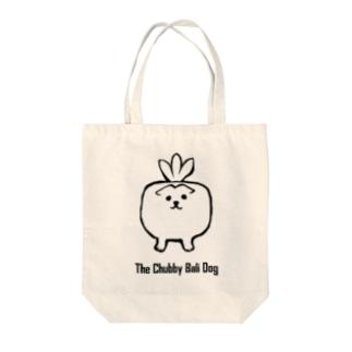 The Chubby Bali Dog Tote bags
