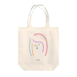 カラフル女っち Tote bags
