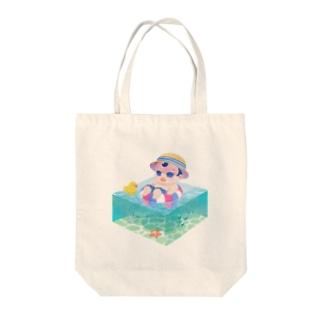 ぷかぷかぼくちん Tote bags