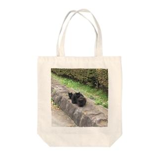 黒猫のタンゴ Tote bags