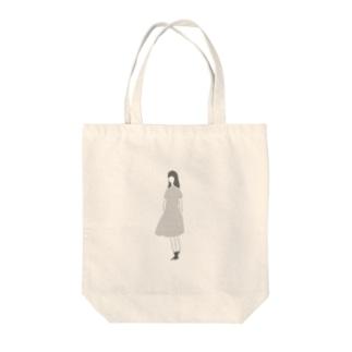 madogiwa girl Tote bags