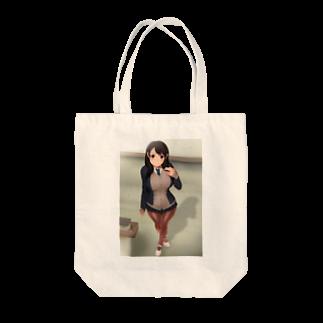 yadogenの冬制服の女の子 トートバッグ