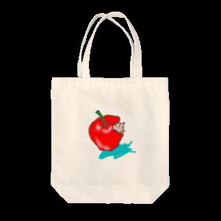 wamegu428のリンゴ ハリネズミ Tote bags