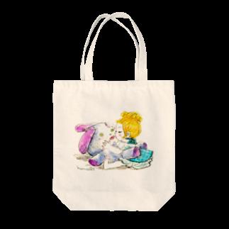 kaeruco(* 皿 *)のキススキ Tote bags