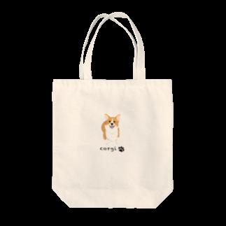 REO★REO★コーギーのコーギースマイル Tote bags