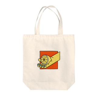 tsukunemのレモン Tote bags