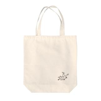 鳥獣戯画 Tote bags