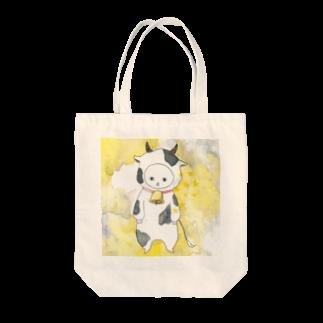 フクモトエミのおうし座のネコ Tote bags