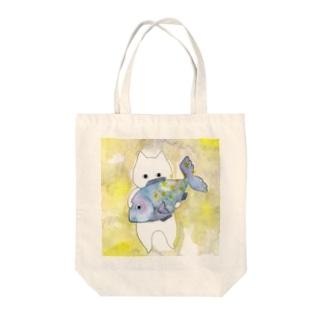うお座のネコ Tote bags