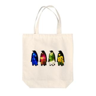 memory penguins Tote bags