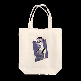 二等辺の角タトゥーお姉さん Tote bags