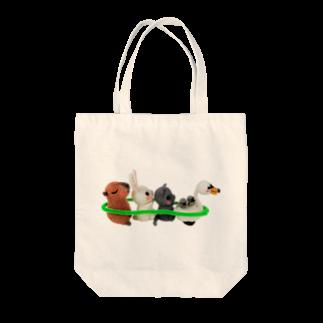 愛猫とひそひそ隊のひそひそ隊電車ごっこ Tote bags