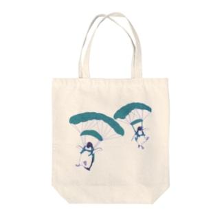 ペンギンスカイダイバーズ(飛行機なし) Tote bags