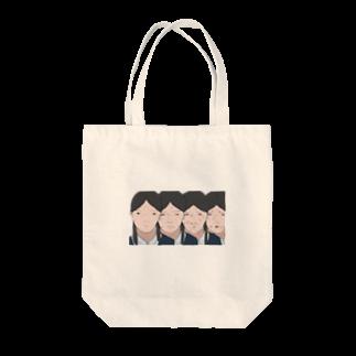 貯金してタイに行きたいの女子校生の並んだ顔です Tote bags