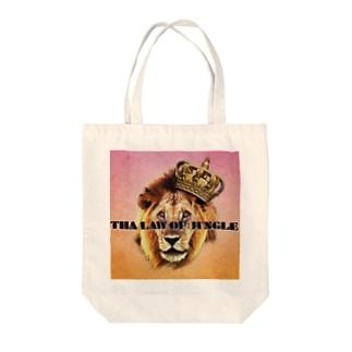 ライオンと王冠 Tote bags