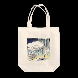 アルカリイオン水の夏のどろどろ Tote bags