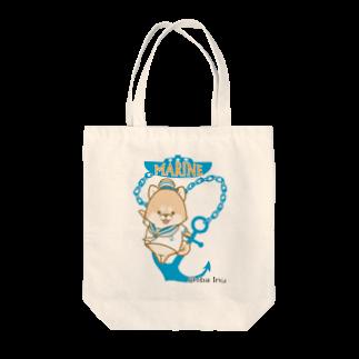 ラクガキメイトの柴犬 マリンルック Tote bags