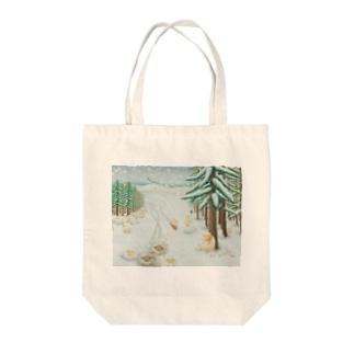 羊雪季節 Tote bags
