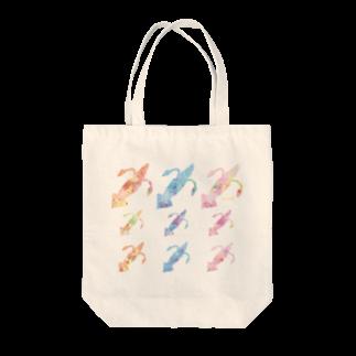 ナナホシ屋のイカ_大漁 Tote bags
