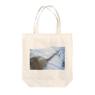 富士乃助くんのしっぽ Tote bags