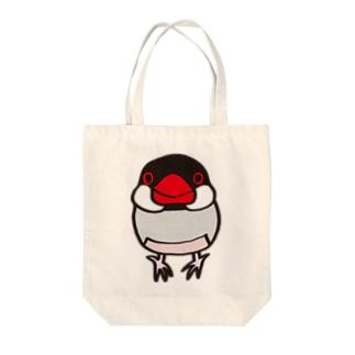 ノーマル文鳥 Tote bags