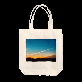 あんこの夕焼けフォトグラフ Tote bags
