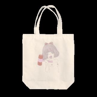 びすけの言わぬが花 Tote bags