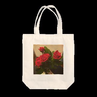 SHIMSHIMPANのもらったバラ Tote bags