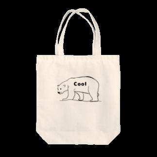 Eatn-kkのCool bear Tote bags