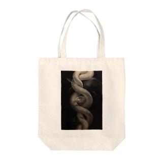 REY 絵画シリーズ 蛇 Tote bags