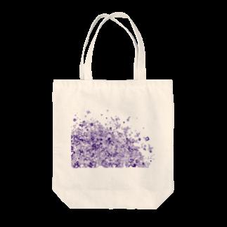 maro's POKER FACE suzuri店のマーブルパープル Tote bags