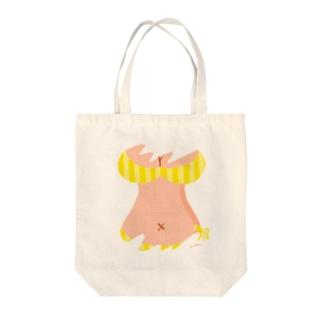 おっぱいTシャツ(YELLOW) Tote bags