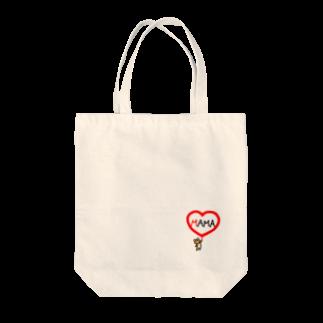 まめ@ゆるふわおもろ発見隊のママクマちゃん Tote bags