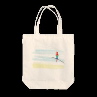 cranes designのTropical parrot 南国のオウム Tote bags
