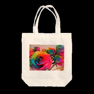 minto_7250のレインボーローズ Tote bags