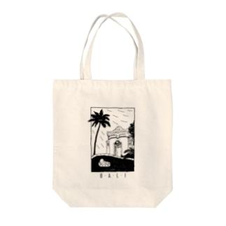 B-A-L-I (black) Tote bags