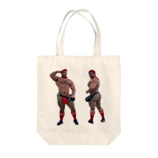 ガチムチさん Tote bags