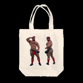 東風のガチムチさん Tote bags