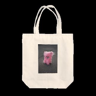 Sugawara Yunaのピンクのイヌ Tote bags