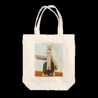 HaruKajikawaのでくのぼう Tote bags